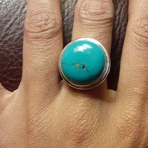 Handmade Tibetan Turquoise ring